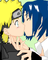 sasunaru surprise_kiss_baseuse by sasunaru-dobe15