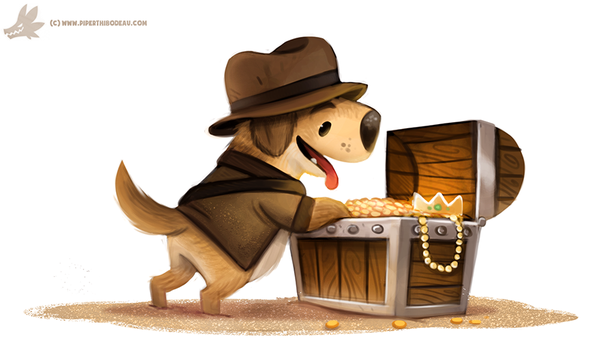 Daily Paint #1093. Golden Retriever by Cryptid-Creations