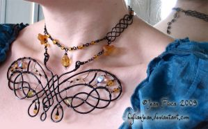 Black and Amber Butterfly 2 by HylianJean