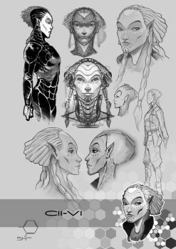 SH Concept Art: Cii-Vi by TheInkPages