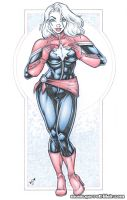 Captain Marvel Danvers bodyshot pencils by gb2k