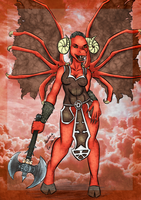 Female Bloodthirster ~ Commission for marcioo9 by TheMarchef