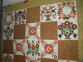 Flowers for Grandfather Quilt by someofmywork