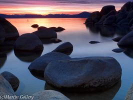 Sand Harbor Sunset Lake Tahoe by MartinGollery