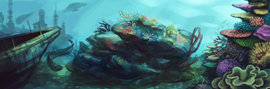 coral reefs by anticline-art