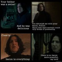 Snape Loves Bacon -Part Deux by Juliabohemian