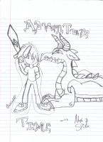Adventure Time With Alex And Spike Poster by RoyalCanterlot-RPS