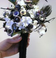 One of a Kind Wedding Bouquet by RetroRevivalBoutique