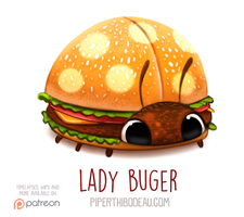 Daily Paint 1566. Lady Buger by Cryptid-Creations