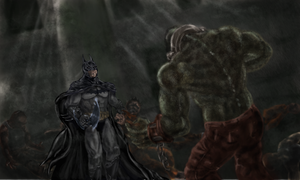 Batman faces Croc by vorkosigan5