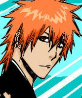 Ichigo MSPaint colouring by MzJekyl