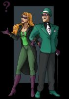 riddler and shyera  -  commission by nightwing1975