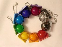 Arcobaleno Pacifiers by belphy