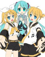 Vocaloid Trio by GDMonster