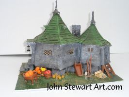 hagrid's Hut Harry Potter scratch-made model by johnstewartart