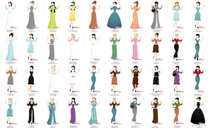 Literary Heroines- Disney Princess Maker by Failinginart