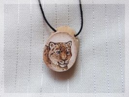 Snow Leopard Necklace by FelineMyth