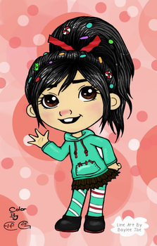 Free Colouring Page - Vanellope by ElfGift