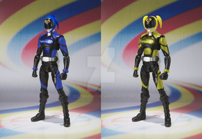 WhatIf Set - Figuarts AkibaBlue and Yellow (Male) by Zeltrax987