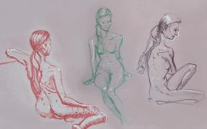 Life Drawing October 2013 by Gizmoatwork