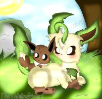 Mama Leafeon by TheTaintedHeart