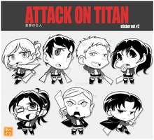 [Attack on Titan] NiuCon Sticker Set #2 by Hatsuraikun