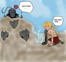 Elric Brothers at the Beach by HitanTenshi