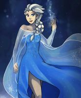 Frozen - Elsa the Snow Queen by sofia-1989