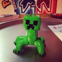 Gift Polymer clay minecraft creeper by SABERSLAYER18