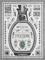 Legend of Zelda Vintage Green Chu Potion by studiomuku