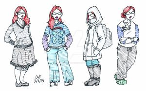 Winter Outfits 1 by penut-butter-goddess