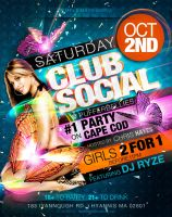 Club Social Flyer 2 by AnotherBcreation