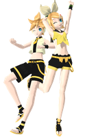 Vocalonation Rin and Len by PiccolaGoccia
