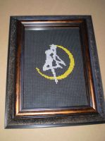 Sailor Moon Silhoutte Cross Stitch by ChandrakantaAvani