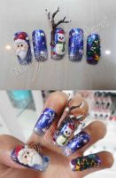 Christmas  nail art 3D by Jutamart