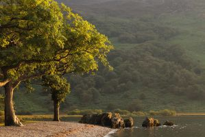 Golden Hues on Crummock Water by parallel-pam