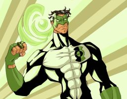 kyle rayner green lantern colors by Debarsy