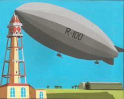 R100 at Cardington by DecoEchoes