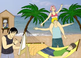 Team 7 on the beach by MimiSempai