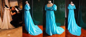 Historical Replica:Empire gown by LilywhiteBlack