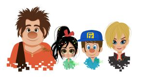 Wreck it Ralph: Select your character by tamarushka