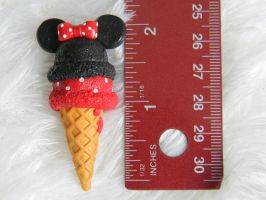 Minnie Mouse Ice Cream Charm- Polymer Clay by ThePetiteShop