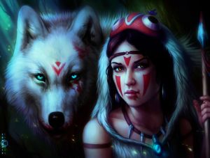 Mononoke Night by JoJoesArt