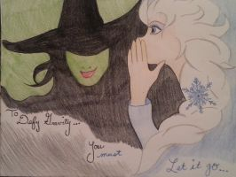 Elphaba and Elsa by Gr0banit3