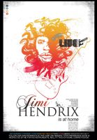 jimi hendrix poster by bradhulley