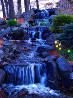 Waterfall at Dusk.... by TriciaStucenski