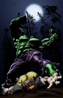 Hulk/Wolvie speed color by sayterdarkwynd