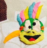 Play-Doh Lemmy by pinkandpeachy