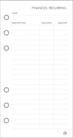 Free Planner Printable: Financial (Recurring) by apparate