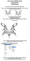 How To Turn White Pixels Transparent by Fervore
